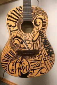 Sharpie Markered Guitar
