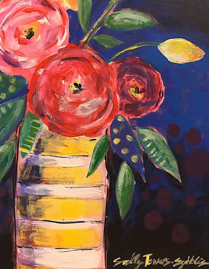 Flowers!Create A Bouquet On Canvas