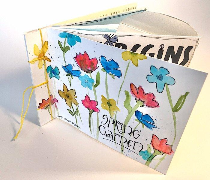Whimsical Spring Watercolor Book, Red Deer, Lettering Arts Guild