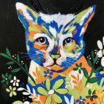Calico Cat Painting