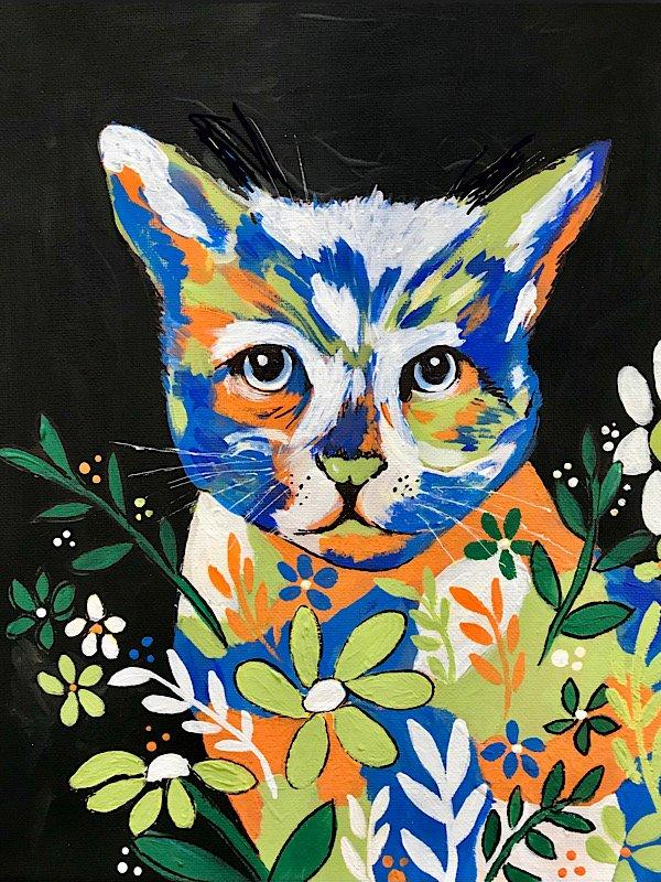 Calico Cat Paint Night, Cronquist House, Red Deer