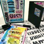 Sharpie Art Lettered Cards
