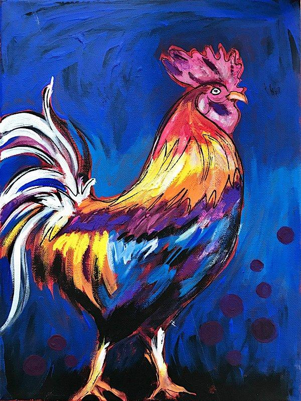 Rockin' Rooster Paint Night, Cronquist House Red Deer