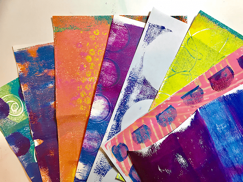 Gelli Plate Printed Papers