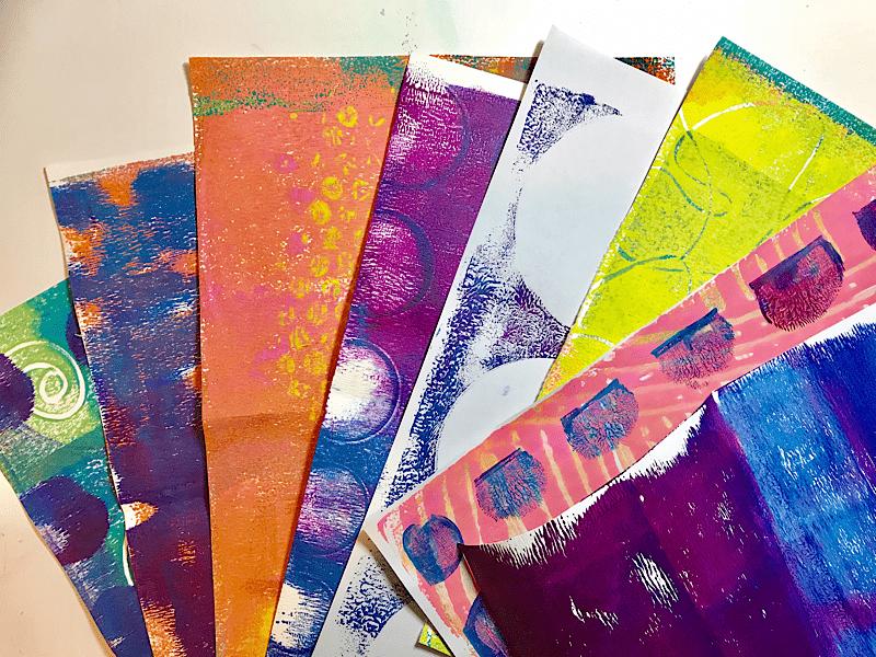 Gelli Plate Printed Papers