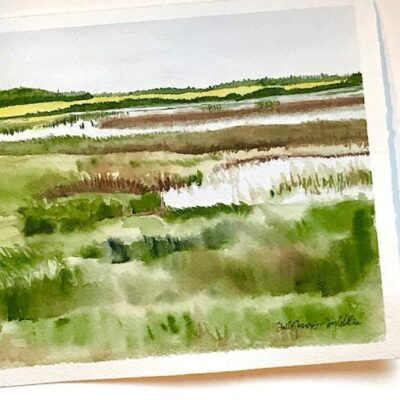 Near Gull Lake Watercolor painting