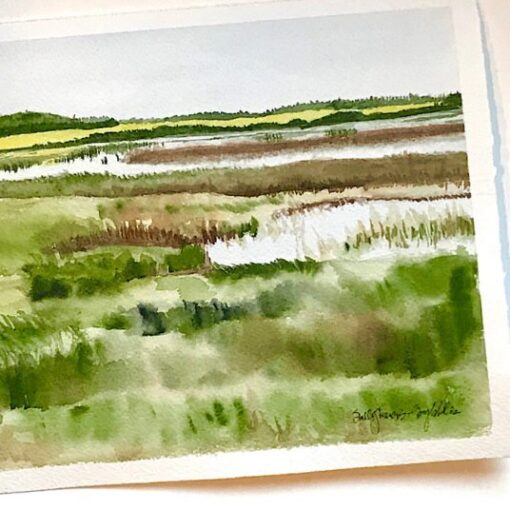 Near Gull Lake Watercolor painting